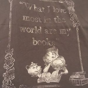 Beauty and the Beast tee - Belle and her books